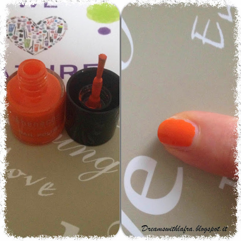 BENECOS NAIL POLISH MIGHTY ORANGE