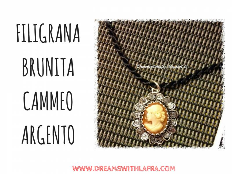FILIGRANA BRUNITA CAMMEO ARGENTO
