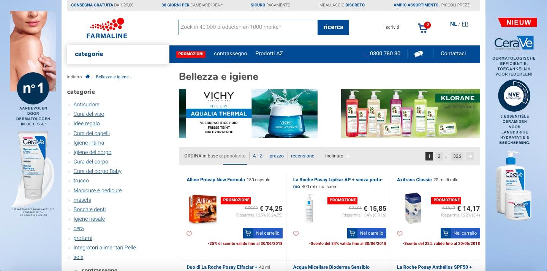 Farmaline: una vera farmacia a portata di clic