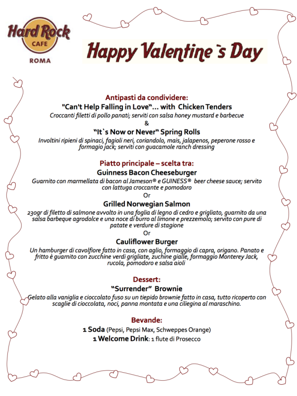 """Come festeggiare il 14 Febbraio in stile """"Sin City"""". Per san Valentino Hard Rock Cafe diventa Las Vegas"""