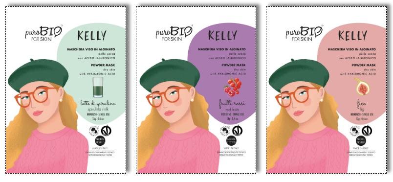La Maschera Kelly è disponibile in 3 profumazioni-