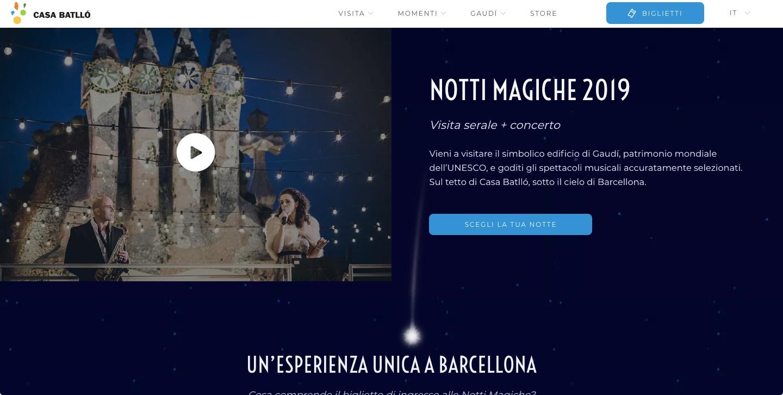 UN'ESPERIENZA UNICA A BARCELLONA: NOTTI MAGICHE 2019